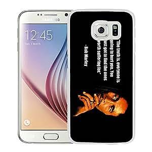 Bob Marley 2 White New Design Phone Case For Samsung Galaxy S6 G9200 Case