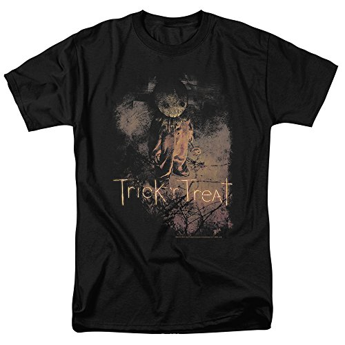 Trick 'r Treat Movie Poster T Shirt & Exclusive Stickers (Large) Black]()