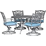 Hanover TRADDNG5PCSW4-BLU Traditions 5-Piece Dining Set, Blue