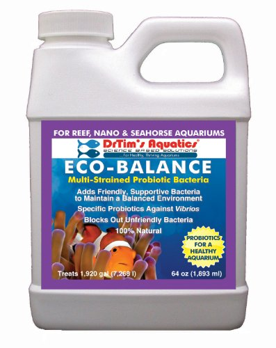 DrTim's Aquatics Eco-Balance Multi-Strained Probiotic Bacteria for Reef and Nano Aquarium, 64-Ounce