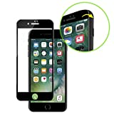 SPARIN iPhone 7 Plus Screen Protector, Edge to Edge Curved Tempered Glass Screen Protector for iPhone 7 Plus with [Scratch Proof] [Ultra Clear], Black