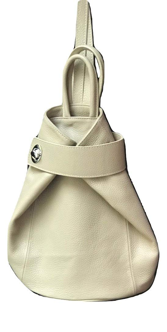 LaGaksta Stella Italian Leather Backpack Convertible Top Handle Purse Medium Taupe