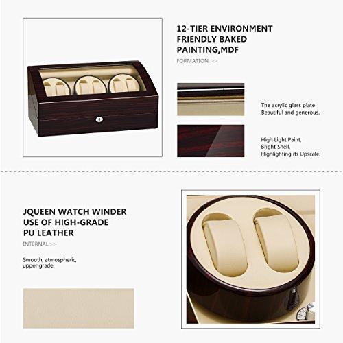 JQUEEN Six Watch Winders 7 Storages with Three Quiet Mabuchi Motors by JQUEEN (Image #5)