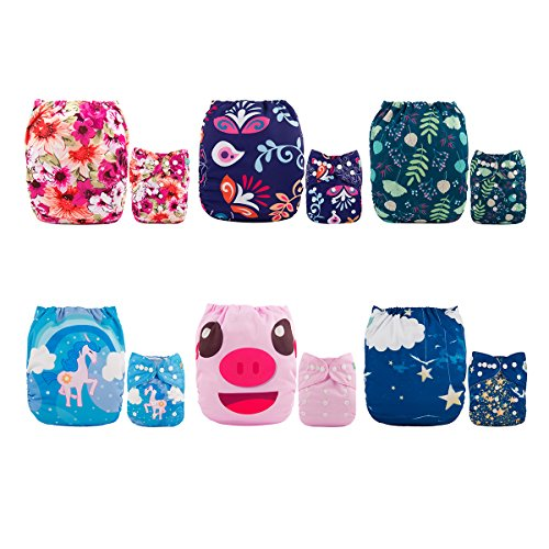 ALVABABY Diapers Reusable Washable Adjustable product image
