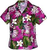 Plumeria Paradise Hawaiian Shirts - Womens Hawaiian Shirts - Aloha Shirt - Hawaiian Clothing - 100% Cotton Pink Small