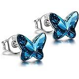 925 sterling silver butterfly earrings for...