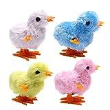 Fluffy Wind up Chicken Dance Lifesize Clockwork Chicken Toy Easter Farm Fun