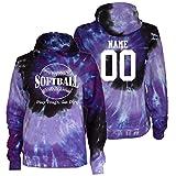 JANT girl Custom Softball Tie Dye Sweatshirt - Play Tough Large Logo
