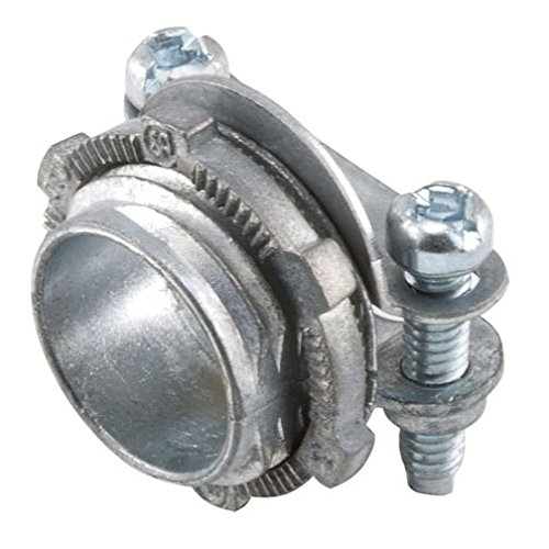 Nm Cable Clamps - Hubbell-Raco 2711B5 Connector, Squeeze, NMSC Cable, 1/2-Inch, Zinc, 5-Pack