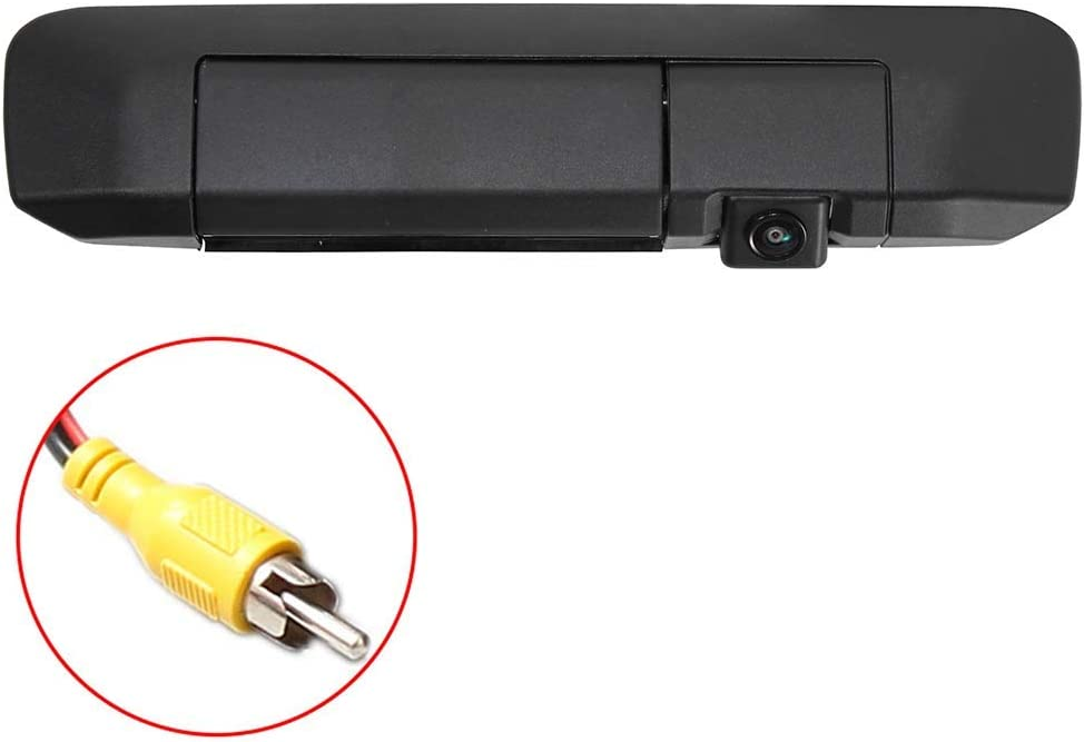 Eway Tailgate Handle Backup Camera for Toyota Tacoma Reverse Reversing Car Safety Rear View Backing Parking Cameras Black E-TCAM-FT-002 2005-2014 for Universal Monitors RCA