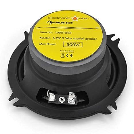 auna CS-508 /• 2-Wege-Koaxial-Boxen /• Auto Lautsprecher /• Car HiFi Boxen /• Einbau-Lautsprecher /• 2 x 120 W RMS-Leistung /• 90 dB Schalldruck /• 2 x 5 Lautsprecher /• Metall-Korb /• schwarz-Silber