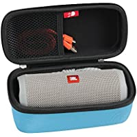 Hard EVA Travel Case for JBL Flip 3 / Flip 4 Splashproof Portable Bluetooth Speaker by Hermitshell (Blue)