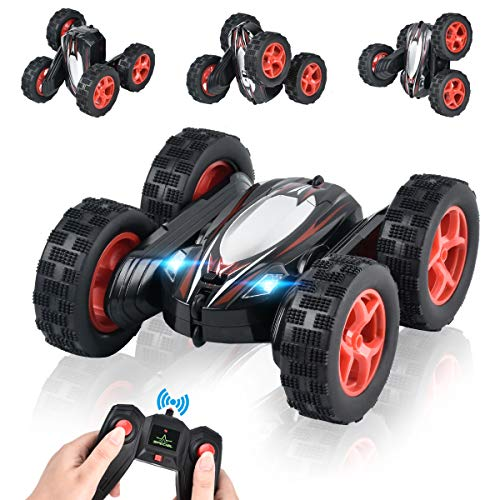 Argohome Rc Car Remote Control Car Rc Stunt Car 360 Degree Flips Double Sided Rotating Race Car Remote Controlled Car For Kids 4wd Monster Truck Tumbling Crawler Vehicle Best Gift For Kids Black