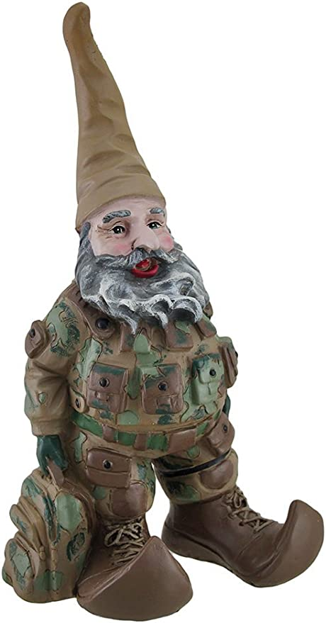 Amazon Com G I Joe Army Soldier Garden Gnome 14 In Outdoor Statues Garden Outdoor
