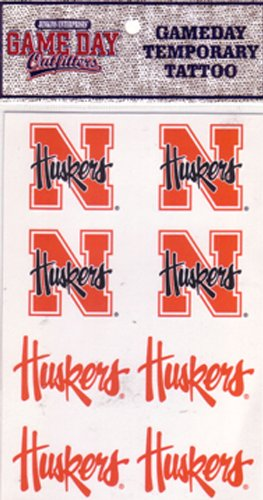 Amazon.com: NCAA Nebraska Cornhuskers tatuaje: Sports & Outdoors