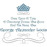 Pattern Only Once Upon a Time Prince Wall Art Cross Stitch Pattern with Name