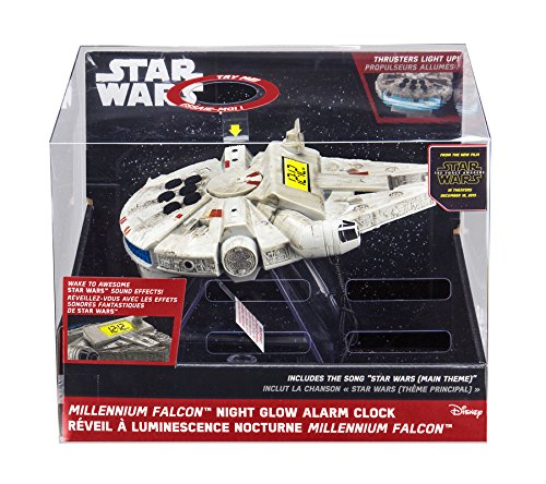 092298924809 - Star Wars-The Force Awakens Millennium Falcon Night Glow Alarm Clock carousel main 2