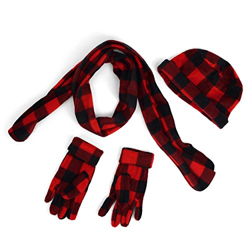 Junior's Buffalo Plaid Fleece Winter Set get discount