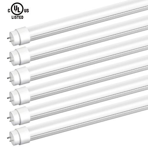 SGL 6-Pack T8 LED Shop Light Tube 48W Equivalent 4ft