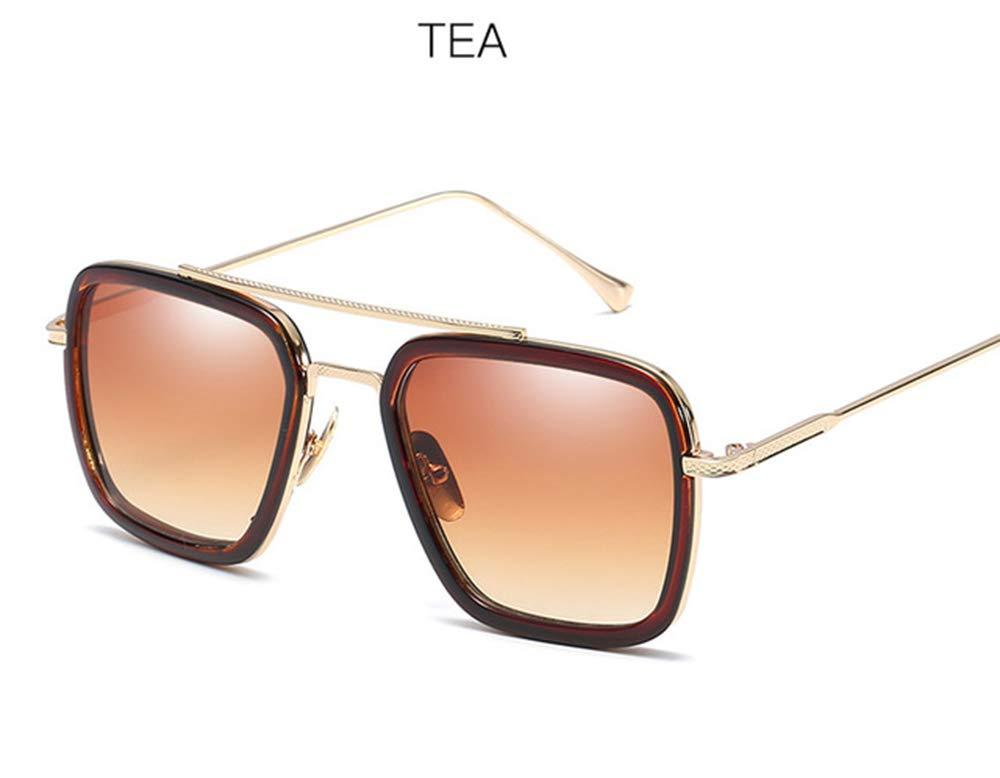 marron  Boîte de lunettes de soleil, PC + métal, idéale pour porter des cadeaux à la famille et aux amis, nombreuses couleurs,marron