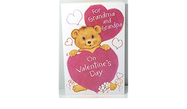 Amazon Com Valentine Card Grandparents From Grandkids For Grandma And Grandpa On Valentine Day By American Greetings Each Office Products