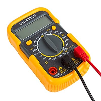 Digital Multimeter Amp / Ohm / Volt Meter, Multi Tester w/ Diode and Continuity Test