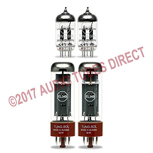 Tung-Sol Tube Upgrade Kit For Hughes & Kettner Switchblade 50 Watt Combo Amps EL34B 12AX7