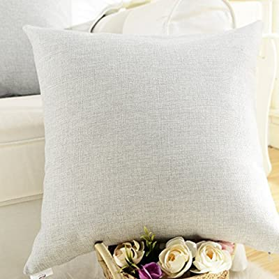 HOME BRILLIANT Supersoft Lined Linen Cushion Pillow Cover