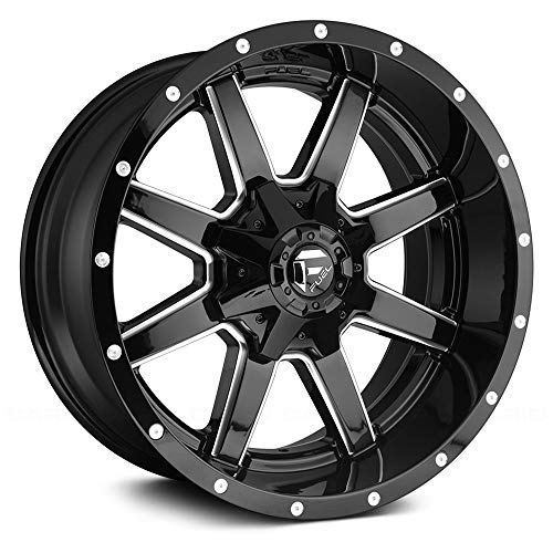 FUEL Maverick NBL-Gloss BLK MIL Wheel with Painted (20 x 8.5 inches /6 x 135 mm, -44 mm Offset)