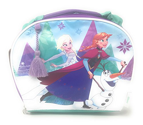 Frozen Elsa, Anna & Olaf Insulated Lunch Box with Purple Ribbon