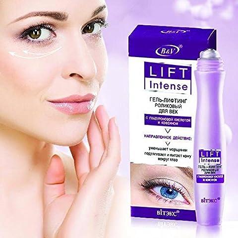 Eye gel - with massage rollers - hyaluronic acid and caffeine - Hydra Intense Hydrating Gel Mask