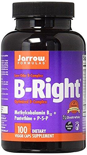 Jarrow Formulas - B-Right/B-Complex, 100 Vegicapsules (Pack of 2)