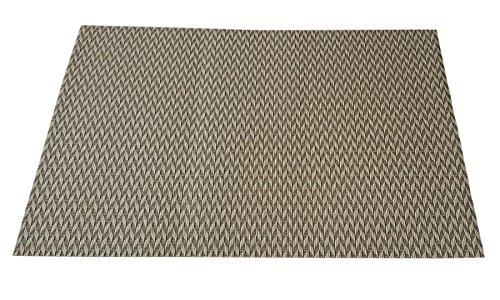 Decorika Table Mat Set of 6 Pcs – Brown & Cream