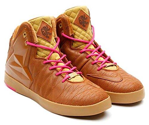 Scarpe Da Basket Lifestyle Nike Lebron Xi Nsw. Taglia 7. Lamina Nocciola-nocciola-foglia Oro-rosa Piatta