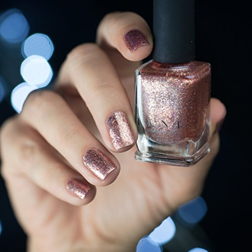 Ilnp Juliette Holographic Nail Polish Rose Gold Makeup Cosmetics