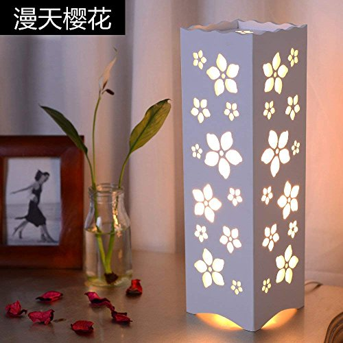Dhg Table Lamp Simple Led European Study Living Room Bedroom Bedside Lamp Carved Fashion Creative Decoration Decoration Energy Saving Lamps Dimmable B Push Button Switch