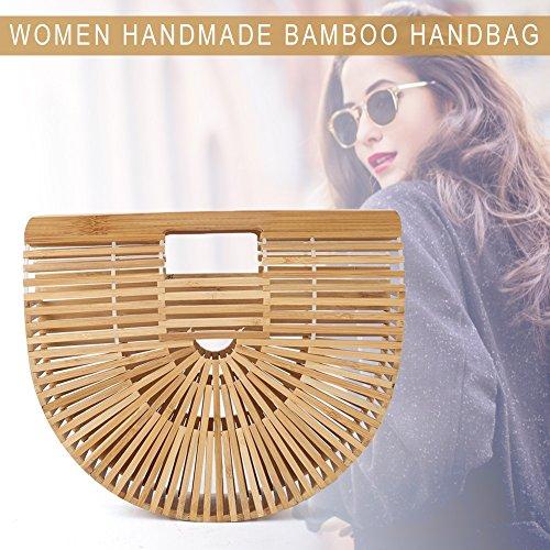 Bambù Bambù Estate 2 Cesto Del Colori Fatti Mano Spiaggia Borsa Di Lady A Legno wT1qF5IZ