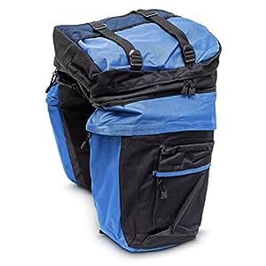 Alforjas bicicleta - Multiusos - Con bolsas laterales separables y mochila