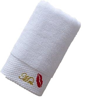 Hotel de lujo baño toallas de mano de boda regalos 100% algodón la Señora y ...