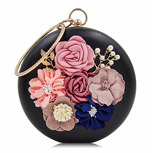 Clutch Female Women Black Purse Evening Day Ladies Clutches Flower Wedding Bags Bag Party PRwPOp