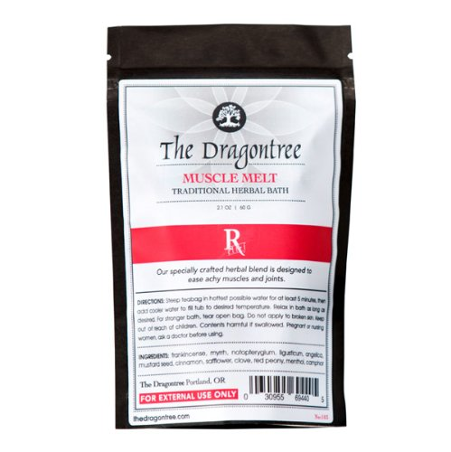 Dragontree Muscle Melt Bath - Natural sore muscle and joint relief - Herbal remedy for back and body aches -  bath to relieve aches - Be pain free - Satisfaction guaranteed