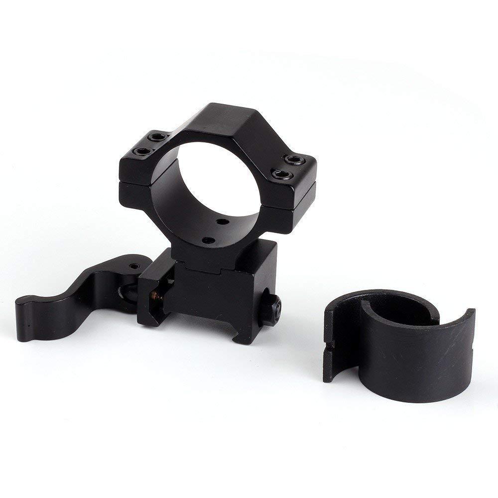Uniquefire 30 mm desconexión rápida Picatinny anillos de alcance, convertir 30 mm anillos a 25,4 mm mira telescópica anillo de montaje KC05