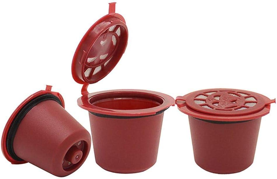 Akaddy Reusable Refill Coffee Capsule Filters Shell for Nespresso Machine Coffee