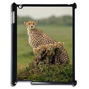 SYSD Fashionable IPad 2,3,4 Cover Custom Case Cheetah,customized Hard Plastic case KJ771401
