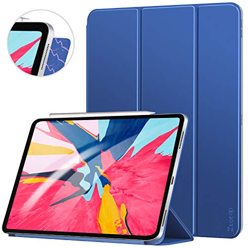 Ztotop Case for iPad Pro 12.9 Inch 2018, Strong Magnetic Ultra Slim Minimalist Smart Case, Trifold Stand Cover with Auto Sleep/Wake for iPad Pro 12.9 Inch 2018 Release (3rd Gen), Navy Blue