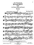 Reger : Quartett, D moll, Op. 74, fur zwei Violinen, Bratsche und Violoncell