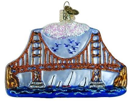 Old World Christmas Golden Gate Bridge Glass Blown Ornament - Amazon.com: Old World Christmas Golden Gate Bridge Glass Blown