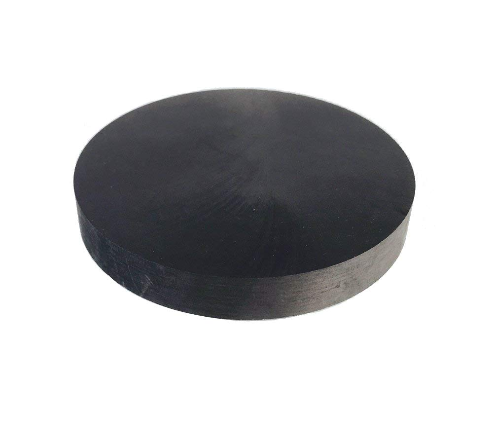 70MMx10MM OTOOLWORLD 99.9/% Purity Graphite Ingot Block EDM Graphite Plate Milling Surface