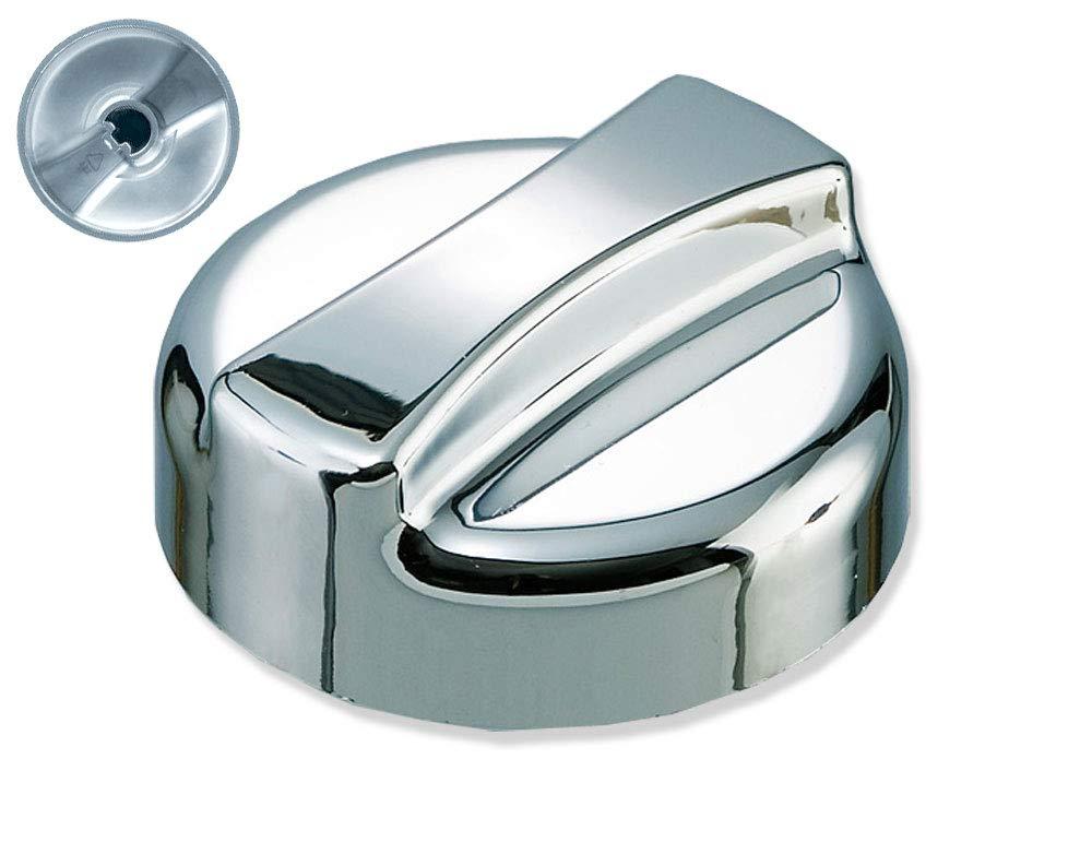 Capuchon rotatif neutre plastique aspect chrome Rond 44 mm x 30 mm de haut Bouton rotatif de rechange pour /évier de cuisine avec valve excentrique.