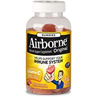 Vitamin C 1000mg - Airborne Assorted Fruit Flavored Gummies, 75 count - Immune Support Minerals & Herbs